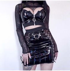 Gothic Outfits, Edgy Outfits, Pretty Outfits, Cute Outfits, Fashion Outfits, Goth Girl Outfits, Dark Fashion, Cute Fashion, Gothic Fashion
