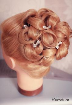 How to Make Beautiful Updo Bridal Hairstyle for Wedding. Click on link for tutorial. http://www.fabartdiy.com/how-to-make-beautiful-updo-bridal-hairstyle-for-wedding/