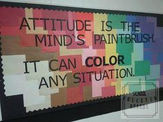 Motivational Hallway Board - Motivational bulletin boards don't have to be super involved or interactive. Just having a simple statement and visual board set up is perfect for older students. How can you use this board with your students? Inspirational Bulletin Boards, Hallway Bulletin Boards, Bulletin Board Design, Interactive Bulletin Boards, Bulletin Board Display, Counselor Bulletin Boards, Display Boards, Diy Classroom Decorations, Classroom Ideas