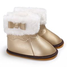 17ff952c0f Raise Young PU Leather Winter Plus Velvet Warm Baby Girl Booties Rubber  Soles Plush Toddler Girl Snow Boots Newborn Infant Shoes. Madre y niños