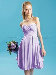 Lavender bridesmaids dress ..  This color but they can pick the type of chiffon cocktail dress they want to wear
