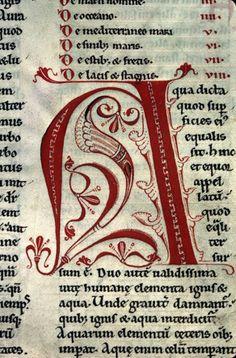 Cistercian decorated initials  (Vesoul BM 150, 12th c).
