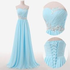 Light Blue Prom Dresses,Sweetheart Long Evening Dresses,Lace up Back Dresses,223