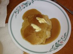 Scottish Pancakes With Butterscotch Sauce - for the husband <3