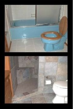 Small bathroom remodeling. This would be perfect for the downstairs bathroom!