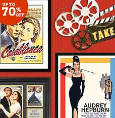 Make your next at-home movie night a blockbuster success with this selection of Hollywood-themed wall art and memorabilia. From movie posters highlighting Hollywood classics to metal decor and playful graphics, these showstopping finds will add a big-screen feel to any living room cinema. Now if only you could all agree on the movie...