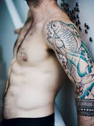 Bildergebnis für stylish koi tattoos men