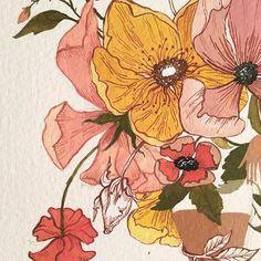 Gouache floral painting @hello.itsmatilda