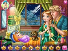Frozen Games For Kids - Anna And Kristoff Baby Feeding