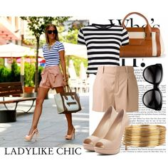 """50. Street Style: Ladylike Chic"" by brooklyn-heart on Polyvore"