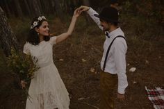 Pre-ceremony dance in the woods | Image by Oscar Castro