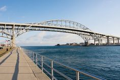 "PORT HURON, MICHIGAN:  ""Bridge""  to Canada ...Port Huron, Michigan / Adventures"