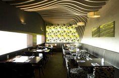 Deckengestaltung-Rosso Restaurant-Haptische Oberfläche: