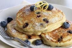 Lemon-Ricotta Blueberry Pancakes