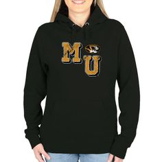 Missouri Tigers Women's Acronym Pullover Hoodie - Black