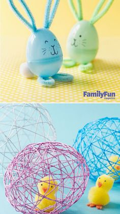 Adorable and EASY Easter Crafts to do with the kids! On Kara's Party Ideas KarasPartyIdeas.com by FamilyFun Magazine #easter #eastercrafts #easterparty Fun Easy Crafts, Easter Projects, Easter Crafts For Kids, Crafts To Do, Kid Crafts, Easter Stuff, Easter Decor, Easter Ideas, Easter Activities