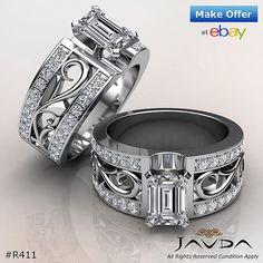 Fashion Solitaire Emerald Diamond Engagement Ring 1.55Ct (Item No. R411, eBay store: javdajewelry)  #Javda #JavdaEngagementRing #JavdaDiamondRing #DiamondRing #EngagementRing #MarryMe #WeddingWonderland #IDo #YesPlease #Engaged #Proposal #Throwback #Bling #TB #NoFilter #WeddingDay #Life #Wedding  #Surprise #Her #Designer #Solitaire #WhiteGold #Fashionista #BFF #Celebration #Couple
