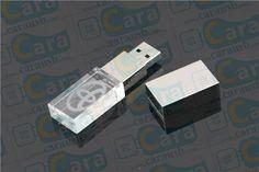 Customized Acrylic Crystal USB Flash Memory Drive Led Lighting Pendrive www.carausb.com