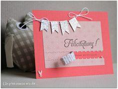 """Carte de félicitations """"Message secret"""" version fille : Cartes par un-p-tit-oiseau-m-a-dit"""