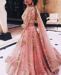 """D E S I F A S H I O N (@thebrowngirlguide_) on Instagram: """"Absolutely love this baby pink lengha by @asthanarangofficial 