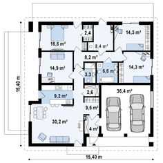 Проект дома Z196 - план-схема 1
