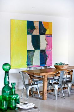 Love this painting behind the dining room table