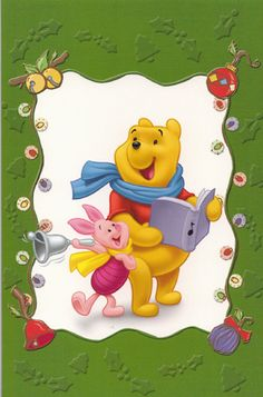 Pooh and Piglet Christmas card | Flickr - Photo Sharing!