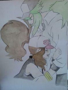 My favourite characters in pokemon blackandwhite ♥♡ #mydraw #draw #drawing #pokemon #NxTouko #videogame