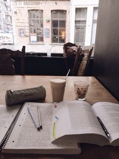 """procrastinationlikeapro: """"A calm study session 3 weeks ago, wish I could go back in time to spend my time more wisely :) but next year there will be new chances Fyi that coffee was so good """" Work Motivation, College Motivation, Revision Motivation, Study Board, Study Organization, Study Space, Study Desk, Study Areas, Pretty Notes"""