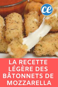 Easy and light aperitif recipe: mozzarella sticks. Mozzarella Sticks, Mozza Sticks, Clean Eating Snacks, Healthy Snacks, Food On Sticks, Snack Recipes, Dinner Recipes, Snacks Für Party, Light Recipes