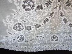 Maria Niforos - Fine Antique Lace, Linens & Textiles : Antique Christening Gowns & Children's Items # CI-102 Exquisite 19th C. Ayrshire Christening Gown