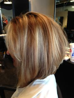 Inverted bob with light layering:) I really wish I could have this color :( But...I love the cut!