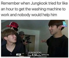 """They were in Norway and he was so shocked to find out that the washing machine was in Norwegian and everyone's just like """"Go ask Rapmon"""" and he's like """"It's not in English"""" then he went all like """"Where are we?"""" Then he figures it out and he gets all happy and proud meanwhile I'm screaming into my pillow at 7 in the morning like """"ITS PROBABLY IN NORWEGIAN KIDDO"""" what to do with this child"""