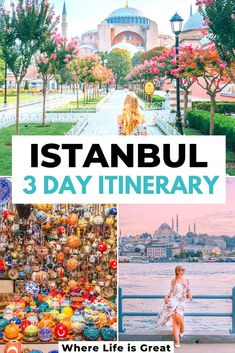 The best Istanbul 3 Day Itinerary Istanbul in 72 hours Top Things To Do in Istanbul Turkey This is my 3 Day Guide to Istanbul to see the best of the city 3 days Istanbul Istanbul Tips Istanbul Travel Tips Istanbul Turkey Europe City Trip Europe Travel Guide, Asia Travel, Solo Travel, Travel Guides, Thailand Travel, Italy Travel, Turkey Europe, Turkey Travel, Places To Travel