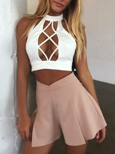 Pinterest: Heatonminded   Laced Up Summer Outfit