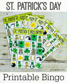 Printable St. Patrick's Day Bingo for Preschool and Kindergarten. Great for classroom parties or fun at home!