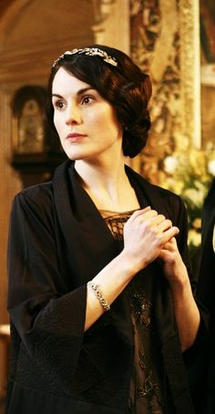 Lovely Lady Mary can communicate more with the lift of an eyebrow than most can in a speech.