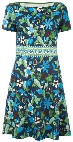 Tory Burch shortsleeved floral print dress