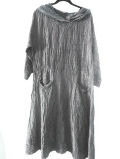 Grizas Charcoal Silk/Linen Dress. Now on Skullzlondon.com