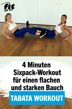 4 minutes of Tabata Workout: Ultimate Sixpack - Do you want a flat stomach? With this tabata workout we bring one step closer to the six-pack! Fitness Workouts, Tabata Workouts, Yoga Fitness, At Home Workouts, Fitness Motivation, Tabata Training, Sixpack Workout, Workout Bauch, Killer Abs