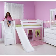 Install Loft Bed With Slide — Loft Bed Inspirations : Hip Ideas Loft Bed with Slide