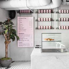 Liverpool Street Grind Cafe Shop Design, Coffee Shop Interior Design, Bakery Design, Store Design, Bakery Interior, Home Interior, Cafe Restaurant, Restaurant Design, Cafe Logo