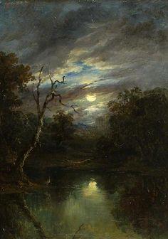 John of Ipswich Moore|Moonlit Landscape