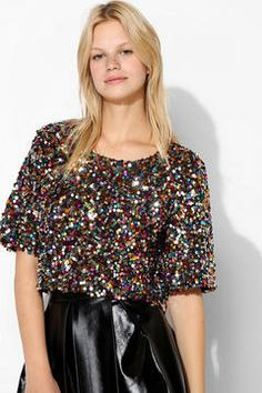 1767dbc3a0ad5 Staring At Stars Cropped Sequin Tee Sequin Crop Top