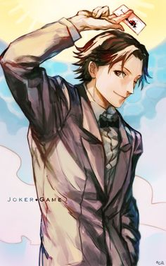 Amari from Joker Game Joker Game Anime, Best Series, I Love Anime, Character Drawing, Haikyuu, Manga Anime, Cute Pictures, Animation, Games