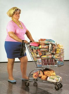 Supermarktdame