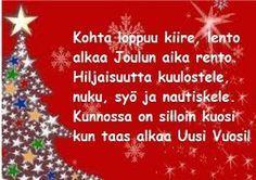 Tulostettavat runokortit joulukortteihisi Very Merry Christmas, Christmas Greetings, Christmas Time, Christmas Crafts, Christmas Decorations, Xmas, Hobbies And Crafts, Diy And Crafts, Christmas Calendar