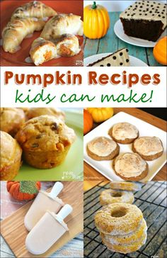 This time of year I am all about pumpkin. My kids are not surprised to come downstairs in the morning and find some pumpkin pancakes or pumpkin waffles for breakfast. Since my kids love all things pumpkin as well, I keep my eyes open for delicious pumpkin recipes kids can make. My kids love cooking with me and we have been having a blast making these pumpkin recipes. Try them with your kids and let me know what you think. For more kid friendly recipes, check out these Peanut Butter Recipes to Ma