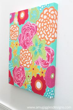 Lily Pulitzer Canvas...you could totally make this!