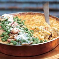 Tyler Florence's Ultimate Macaroni and Cheese with Peas and Bacon